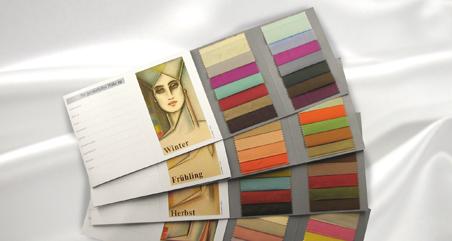 Kärtchen für Farbpalette mit verschiedenen Farben